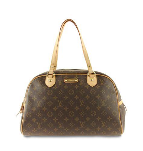 louis vuitton montorgueil gm monogram brown coated canvas shoulder bag tradesy