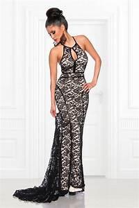 robe de soiree dentelle noir et beige http wwwvetements With robe dentelle beige