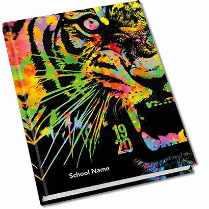 Covers Yearbook Tiger Mascot Memorybook Themes Memory