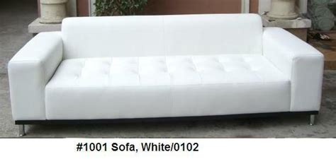 White Leather Sofa Ebay by Modern Tufted White Leather Sofa 1001 Ebay