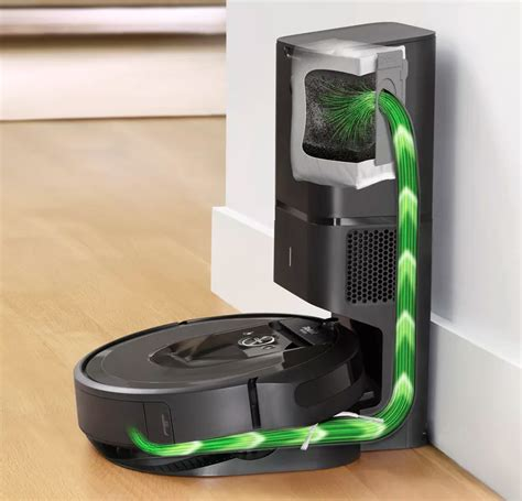 irobot roomba  robotic vacuum  empty   dustbin