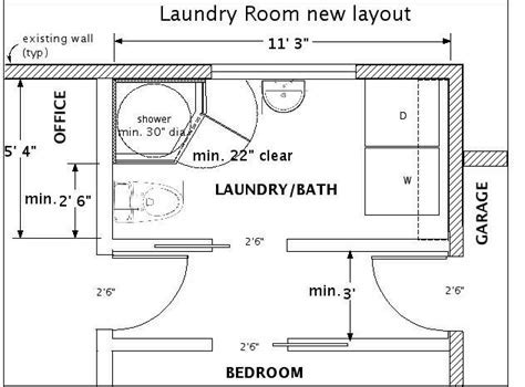 Fitting a Full Bath into a Small Space   Laundry & Bath