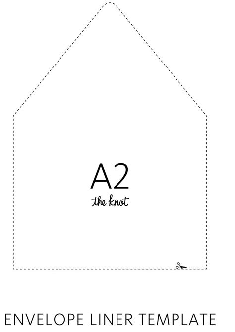 knot envelope liner template