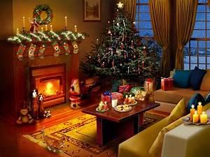 Free Animated Christmas Fireplace Wallpaper