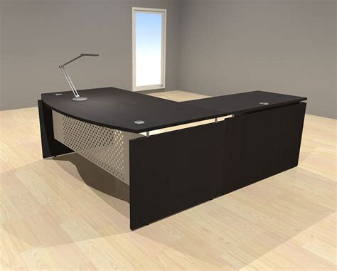 contemporary executive office desks 3pc l shape modern contemporary executive office desk set