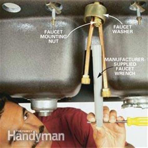 replace  kitchen faucet  family handyman