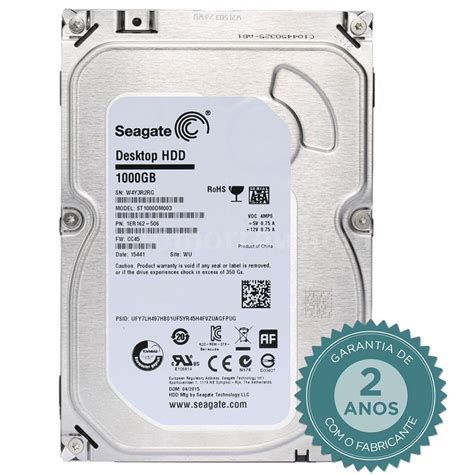 hdd interno hd interno seagate barracuda 1tb sata iii 6gb s 7200 rpm