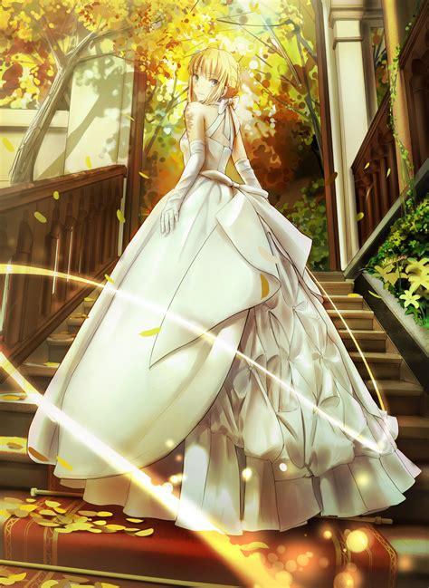 Anime Wedding Wallpaper - braids saber dress anime fate stay saber