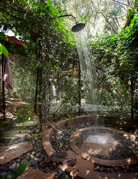 outdoor shower mediterranean patio phoenix