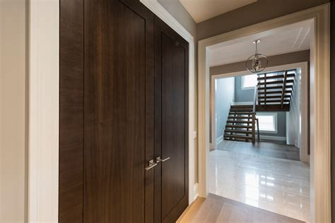 Closet Double Door Modern Style  Custom Wood Interior