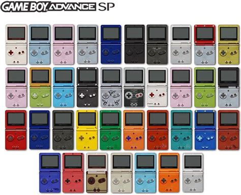 advance the colors nintendo gameboy advance gba sp console all colours