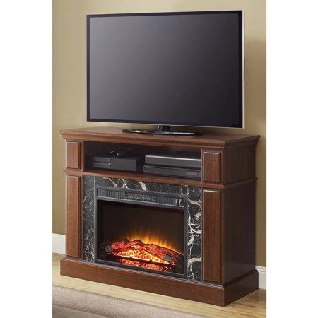 whalen fireplace tv stand whalen 41 quot cherry media fireplace for tvs up to 50