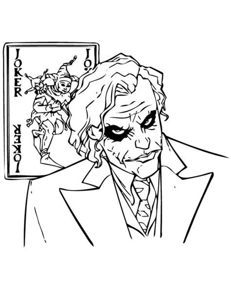 Coloring Joker by Joker Coloring Pages Coloringsuite