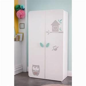 Armoire De Bébé : armoire b b 2 portes hiboux blanc la redoute shopping ~ Melissatoandfro.com Idées de Décoration