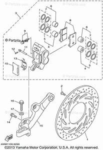 Yamaha Motorcycle 1999 Oem Parts Diagram For Rear Brake