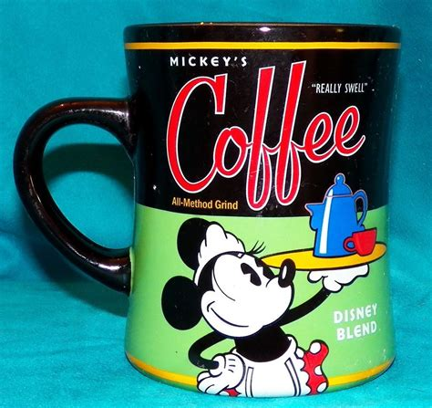 See more ideas about disney coffee mugs, disney mugs, mugs. Disney Theme Parks Minnie Mouse Mickey's Really Swell Blend Diner Coffee Mug Cup # ...