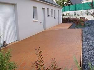 terrasse beton couleur nos conseils With beton couleur pour terrasse