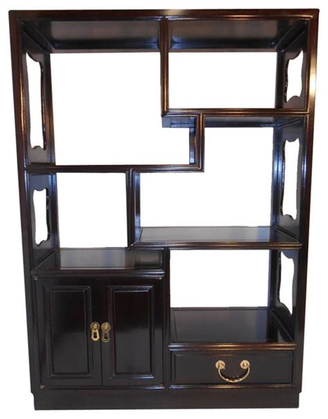 Asian Bookcase by Asian Rosewood Step Curio Cabinet View In Your Room