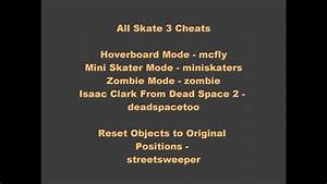 All Skate 2 And Skate 3 Cheats Unlockables In 100 Youtube