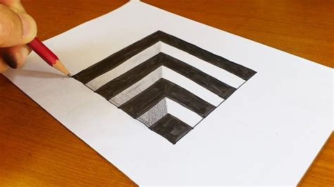 How To Draw 3d Drawings On Paper Step By Step Easy Very