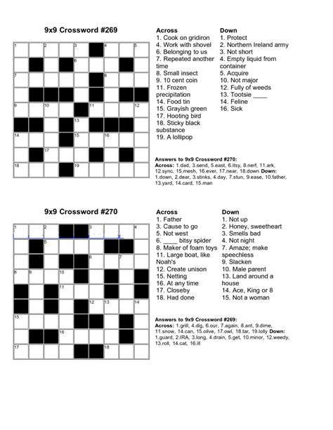 easy printable crossword puzzles easy kids crossword puzzles kiddo shelter
