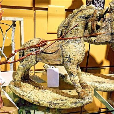 gerson  resin antique rocking horse