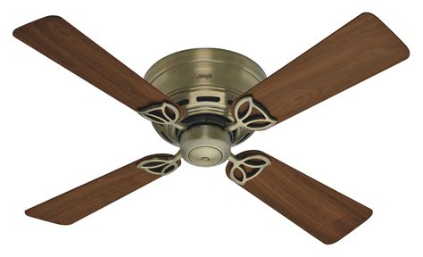 Hunter 42 Low Profile Iii Ceiling Fan 23860 In Antique
