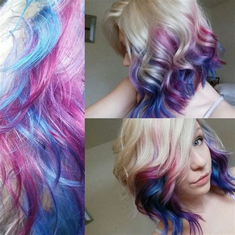 ombre hair styles hair with galaxy colors done by me my hair 8320