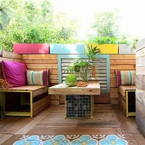 Plan De Travail En Palette : 1001 id es pour des meubles de jardin en palettes astuces espaces ext rieurs ~ Melissatoandfro.com Idées de Décoration