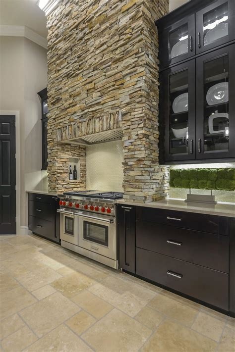 Tuscan Inspired Kitchen With Stone Range Hood   HGTV