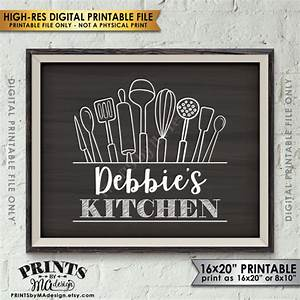Kitchen sign decor wall art custom