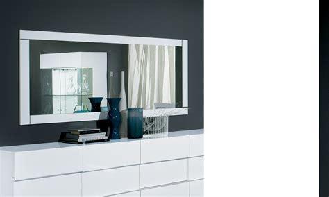 miroir blanc laque brillant