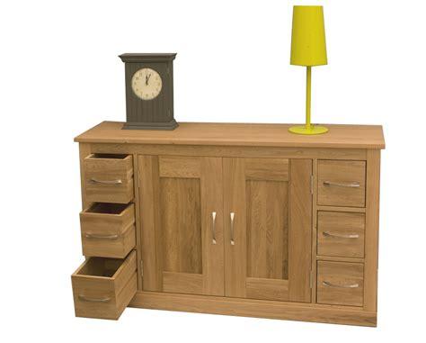 Wooden Sideboard Uk by Mobel Oak Six Drawer Sideboard Living Room Furniture