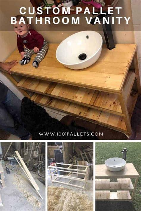 custom pallet bathroom vanity  pallets