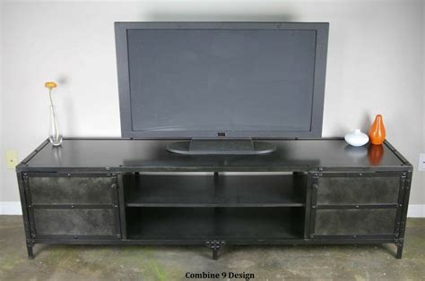 Credenza Tv Stand by Media Console Tv Stand Credenza Modern Industrial Mid