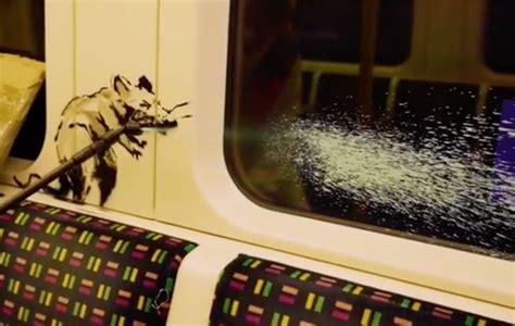 banksys coronavirus artwork removed  london