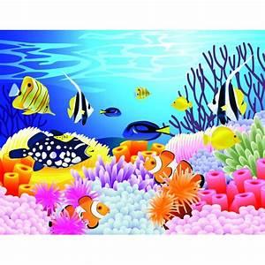 wallpaper ocean fish decoration chambre bebe paysage fond With tapis chambre bébé avec envoyer fleurs a distance