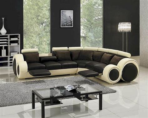 modern leather sectional sofa with recliners modern two tone leather sectional sofa set with recliners