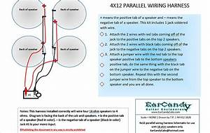 Earcandy 4x12 Parallel Wiring Harness Wires 4 16 Ohm