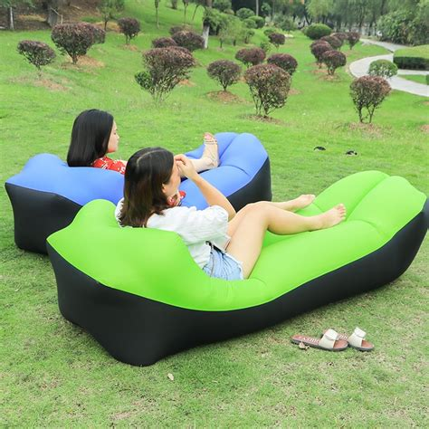 update fast inflatable lazy bag air sleeping bag