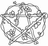 Embroidery Designs Patterns Coloring Pentacle Hand Pagan Urbanthreads Pages Venus Witch Urban Threads Wiccan Pentagram Pentangle Pattern Cross Adult Stencil sketch template