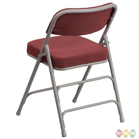 hercules padded folding chairs hercules premium hinged burgundy fabric upholstered