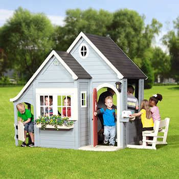 backyard cottage playhouse outdoor playhouses costco