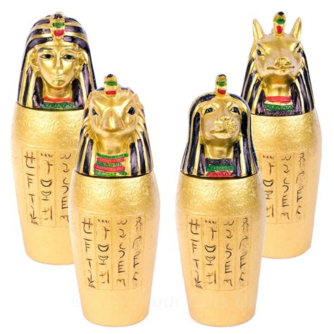 canap ik set of 4 canopic jars ancient burial