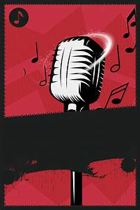 Creative Illustration Cool Singing Contest Background ...