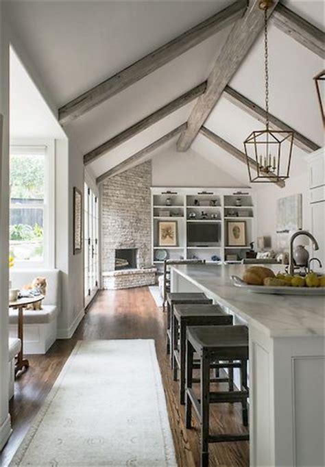 open floor plan design  lofted ceilings  wooden beams bradshaw designs kitchens