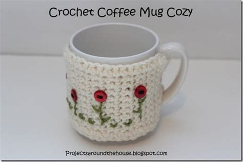 We've got a stylish solution for you here with a crocheted owl mug cozy. Projects Around the House: Crochet Coffee Mug Cozy