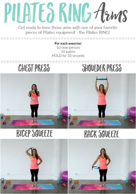pilates ring workout arm exercises circle magic body exercise workouts upper fitness chest arms routine thelivefitgirls printable core circles target