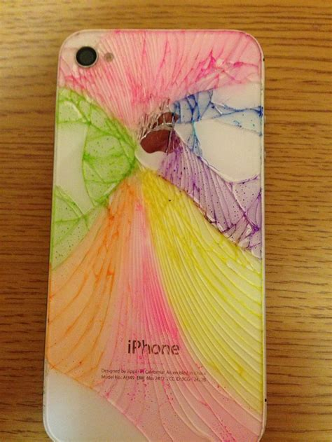 creative crafts ideas iphone colored with highlighters iphone cases 1810