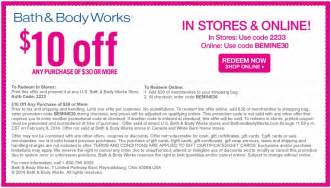 Coupon Codes Bath And Body Works Picture